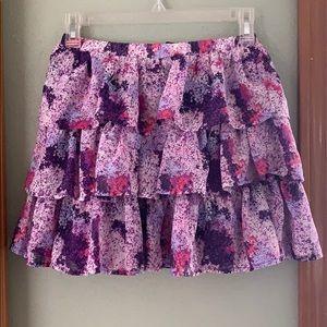 NWT Children's Place tiered skirt sz L purple